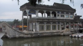 Pechino, marble boat at the summer palace