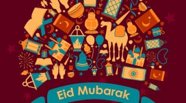 Eid Mubarak greetings background