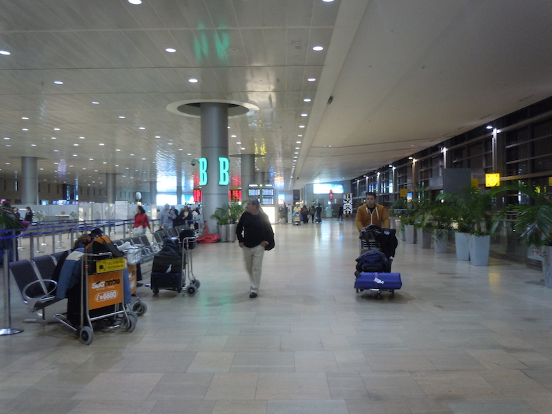 Security procedures at Ben Gurion Airport, in Israel