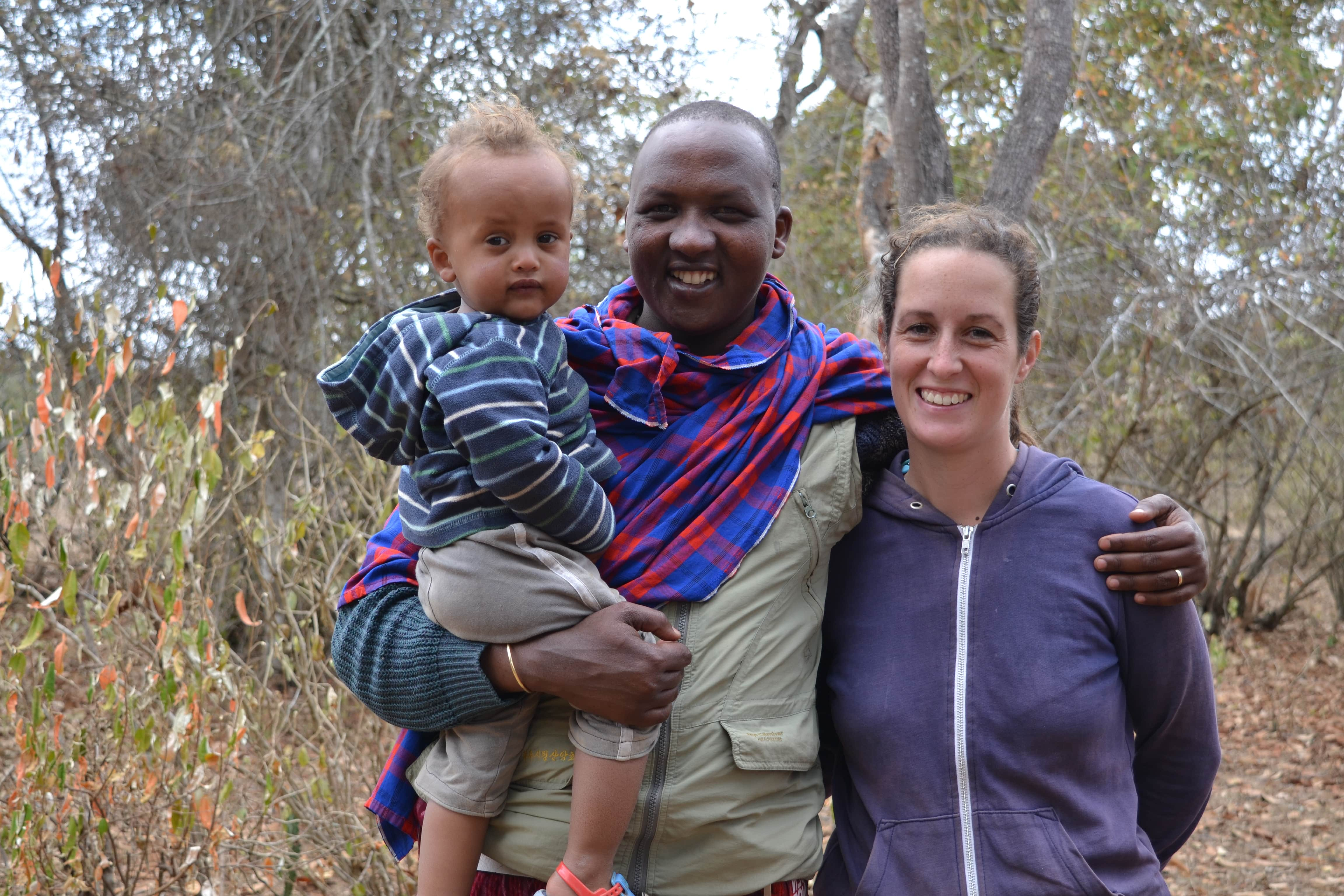Stephanie, adapting to life with the Masai